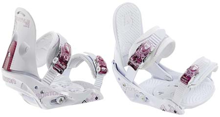 Крепления Burton FREESTYLE JR white/pink