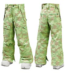 Штаны Burton Girls Cargo Pant_Green Glass Bitmap Print