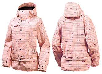 КУРТКА Burton AFTERHOURS JACKET prep pink birds on a wire print