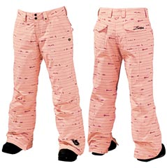 ШТАНЫ Burton Downtown Insulated Pant _Prep Pink Birds on a Wire Print