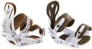 Крепления Burton FREESTYLE white/brown